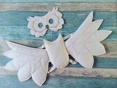 Owl Mask and Wings Set  Felt Owl Mask  Felt Owl Wings  Felt