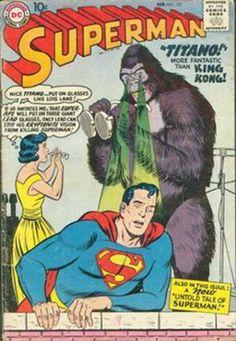 Superman Silver Age Comics Not Signed Old Superman, Superman Comic Books, Old Comic Books, Comic Book Covers, Comic Book Characters, Superman Family, Batman, Superman Logo, Old Comics