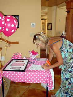 """Holy Craft: She's About To Pop Baby Shower...Baby pictures of the parents with an invitation = a great guest """"book"""" for people to sign"""