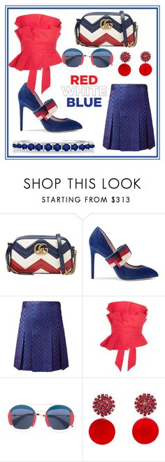 """""""🇺🇸 USA! 🇺🇸"""" by explicitlirix ❤ liked on Polyvore featuring Gucci, Johanna Ortiz, Marni and Allurez"""