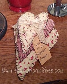 cloth hearts, I gave these same ones to my Mom a few years ago <3