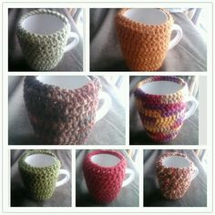 Mug warmers. Of course these were made a little bigger for a bigger mug...