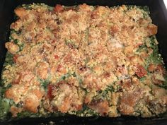 Crumble de courgettes au saumon