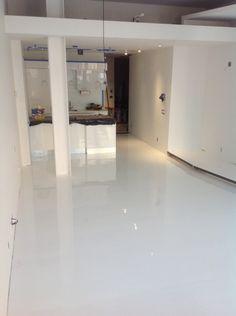 Manhattan White Epoxy Flooring Decorative Concrete Kingdom Re Pin Click Pic