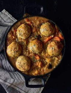 This winter veggie stew with wholesome lumpy dumplings from Nick Knowles' Proper Healthy Food is a family favourite in our home. It's a big, rich, thick stew for the winter with lovely cheesy, herby dumplings. It's easy to make, healthy, hearty and a proper chunky feed.