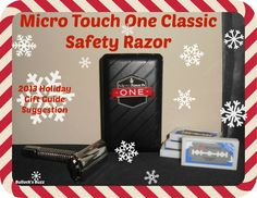 Micro Touch One Classic Safety Razor ~ Review - Bullock's Buzz Men will love this modern version of the timeless classic safety razor by @Microtouch One Razor