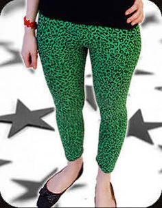 green leopard print tights - Google Search