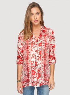 Johnny Was Signature Silk Igory Lisa Print Button-Down Blouse #bohochic #newin #johnnywas