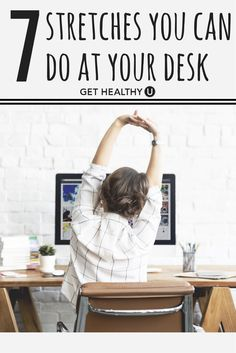 If You Have a Desk Job Your Body Will Thank You For These 5 Desk Yoga Poses Sitting at a desk has a negative impact on our posture our bodies and our overall health. Here are 4 easy desk yoga poses you can practice at the office. Desk Yoga, Chair Yoga, Linkedin Summary Examples, Poses Yoga Faciles, Stress Relief Tips, Easy Yoga Poses, Physical Therapy, Easy Workouts, Yoga Workouts