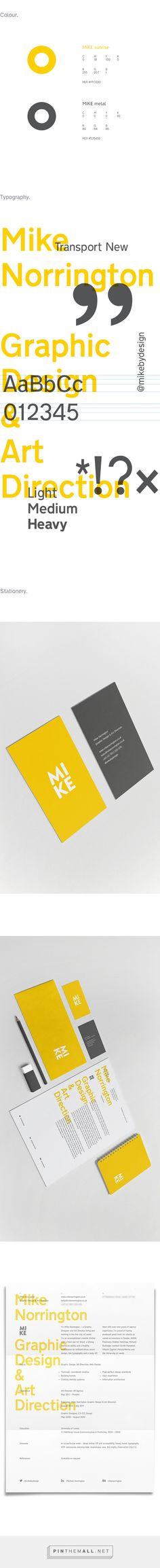 MIKE: a very personal identity on Behance... - a grouped images picture - Pin Them All
