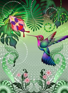 Hummingbird in the Garden by Whale Man, via Flickr
