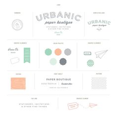Stitch Design. Urbanic Paper Boutique.  #branding #identity #design