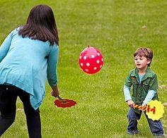 Balloon Badminton! #kids #fun #outdoor
