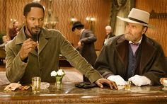 "Jamie Foxx and Franco Nero in Django Unchained: ""The D is silent""."