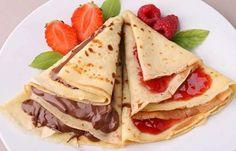 El crepe es una receta europea de origen francés bretón hecha con harina de trigo. Se puede servir tanto con salado como con dulce