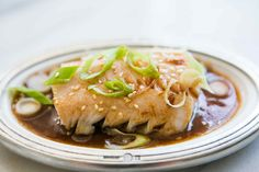 Pacific black cod (sable fish) cooked in a broth of sake, rice vinegar, soy sauce and oil, delicious!