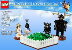 "8 ""Monty Python & The Holy Grail"" Lego Sets We Wish Were Real. Please Lego, make it so! Monty Python, Cartoon Network Adventure Time, Adventure Time Anime, Lego Playsets, Game Of Thrones, Roi Arthur, Lego Knights, Everything Is Awesome, Awesome Things"
