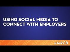 Facebook, Twitter and even Pinterest can be fun to keep up with friends, but did you know that social media can help you connect with employers? Watch this video for some great tips on using social media for the job hunt! (via CareerBuilder)