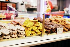 Delicious waffle cookies in Amsterdam