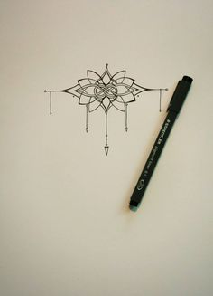 Lotus and Celtic Knot inspired wrist tattoo. For sale on Etsy.   How Do It Info