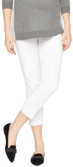 A Pea in the Pod Secret Fit Belly Sateen Straight Leg Maternity Pants