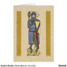 SOLD 9/27/2017 through Zazzle to a customer in Toronto, Canada: two English Knight, Circa 1300 Cards.  #Zazzle #sold #greeting_card #card #knight #medieval_knight #English_knight  #mailed_knight