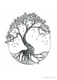Blossom tree tattoo, tree of life tattoos, circle tattoos, wrist tree tattoo , Tree Roots Tattoo, Tree Tattoo Arm, Blossom Tree Tattoo, Cherry Blossom Tree, Blossom Trees, Cherry Tree, Tattoo Life, Tree Of Life Tattoos, Logo Arbol