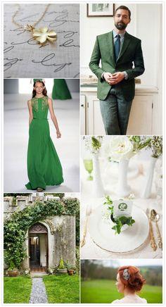 Wedding Inspiration Board | St. Patrick's day