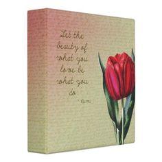Red Tulip Beauty Binders