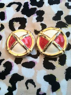 Red White and Gold Clip On by GlamLifeAccessories on Etsy, $5.00