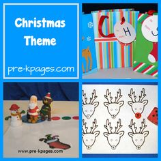 Christmas Theme crafts, centers and activities from PreK pages for preschool and kindergarten! :)