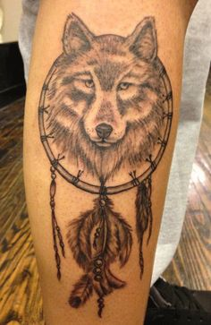 2014sports.net » Wolf Dreamcatcher Tattoo Designs
