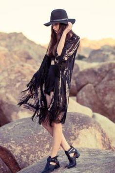 Fringe!!!   Staring At Stars Tie-Dye Fringe Kimono Jacket   Pretty Little Liars