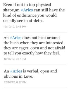 Aries - you can count on the interwebs to spill our secrets! #Ram