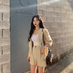 Image may contain: 1 person, standing Ulzzang Girl, White Dress, Image, Dresses, House, Ideas, Fashion, Vestidos, Moda