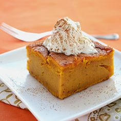 Pumpkin Dump Cake - super easy, very tasty, diabetic friendly