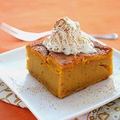 Pumpkin Dump Cake - super easy, very tasty, diabetic friendly