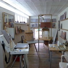Studio of painter Ian Lettice