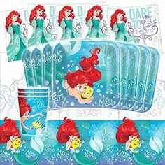 16 people`` Disney Ariel Dream Big Little Mermaid Birthday Party Tabl...   http://a.co/dKiHsZ2
