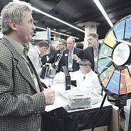 The GC/Renfert prize wheel was spinning all weekend long in the Exhibit Hall. The two companies awarded over a lot of money in products and equipment by allowing attendees of their Friday and Saturday clinics to spin for a chance at a prize. Buy this Prize Wheel at http://PrizeWheel.com/products/floor-prize-wheels/floor-and-table-prize-wheel-12-24-slot-adaptable/.