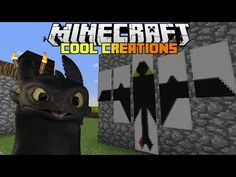 Minecraft : How to make... Toothless The Dragon - YouTube