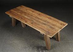 Vara: 3710159Langbord/Spisebord i fransk antik landstil. Af genanvendt gammelt træ
