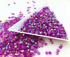800pcs/3mm Purple Jelly AB Resin Rhinestones Drill Scrapbook for phone/craft @55