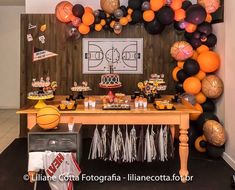Basketball 7 Year Old Refferal: 8083601376 Happy 13th Birthday, Baby Boy First Birthday, 13th Birthday Parties, Basketball Baby Shower, Basketball Birthday Parties, Engagement Party Themes, Theme Baskets, Party Decoration, First Birthdays