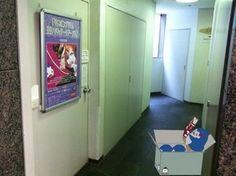 二度目のアートワークス展! 入り口の階段。