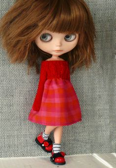 Classy ver dress for Blythe RED by Cangaway on Etsy, $28.00