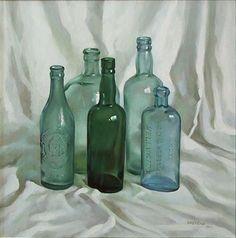 Oil Paintings Of Glass Bottles - Fine Art Blogger