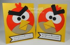 Love the Angry Bird cards made by Dawn from Dawn's Stamping Studio!