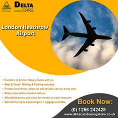 Looking for an effortless and customer friendly airport pickup service in Basingstoke? Try Delta Cars & enjoy a smooth journey. Contact now 0 1256 London Southend Airport, London City Airport, London Airports, Gatwick Airport, Heathrow Airport, Bristol City Centre, North Somerset, Taxi