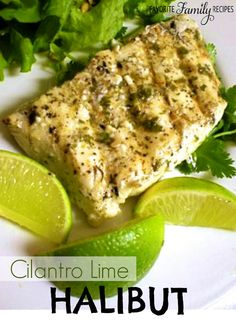 All I can say is... BEST. HALIBUT. EVER. This Cilantro-Lime Halibut is really easy to make and doesn't taste fishy. Just fresh, flaky, and fantastic! #halibut #fish
